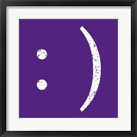 Purple Smiley Framed Print