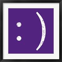Framed Purple Smiley