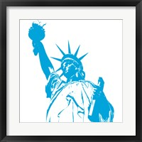 Framed Liberty in Blue
