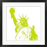 Framed Liberty in Lime