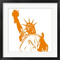 Framed Liberty in Orange
