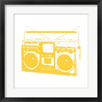Framed Yellow Boom Box