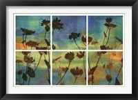 Framed Wild Flowers I
