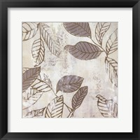 Framed Graphic Leaves IV