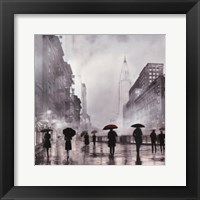 Framed New York Red Umbrella