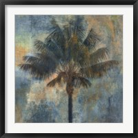 Framed Palm and Blue
