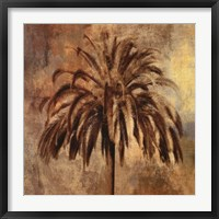 Framed Golden Palm
