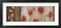 Framed Rain Flower II