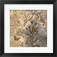 Flowers Butterfly II Framed Print