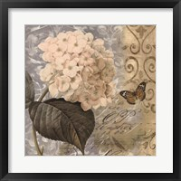 Framed Flowers Butterfly I