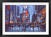 Framed Times Square Blue
