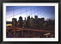 Framed Manhattan Blue