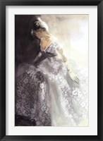 Framed White Aubretia
