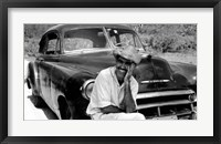 Framed Ricardo With His Chevrolet