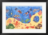 Undersea Fun Framed Print