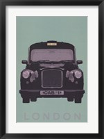 London - Cab I Framed Print