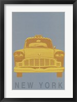 New York - Cab Framed Print