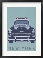New York - Cop Car Framed Print
