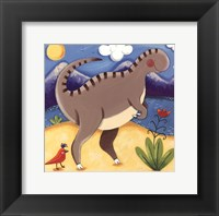 Baby Izzy The Iguanodon Framed Print