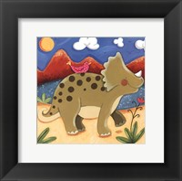 Baby Timmy The Triceratops Framed Print