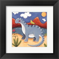 Baby Dippy The Diplodocus Framed Print