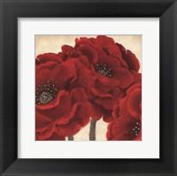 Framed Red Peony II