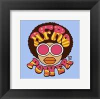 Framed Afro Power
