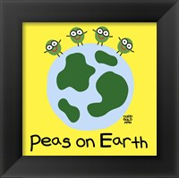 Framed Peas On Earth