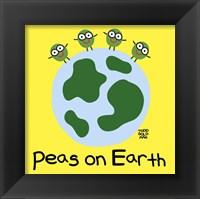 Framed Peas On Earth