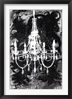 Framed Chandelier Black and White