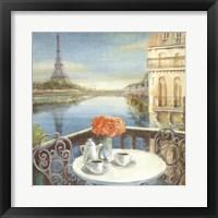 Framed Morning on the Seine Crop