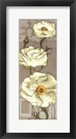 Framed Pinwheel Whites I on Gray