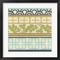 Non-Embellished Geometric Frieze II Framed Print