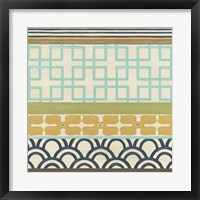 Non-Embellished Geometric Frieze III Framed Print