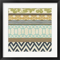 Non-Embellished Geometric Frieze IV Framed Print