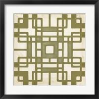 Non-Embellished Deco Tile II Framed Print