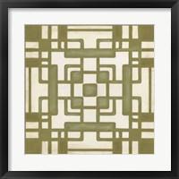 Non-Embellished Deco Tile III Framed Print