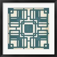 Non-Embellished Deco Tile IV Framed Print