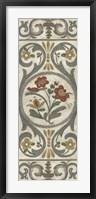 Tudor Rose Panel II Framed Print