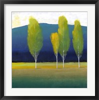 Glowing Trees I Framed Print