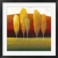 Glowing Trees II Framed Print