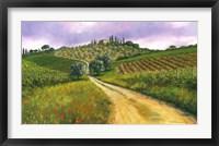 Tuscan Road Framed Print