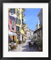 Framed Sunny Street in Portofino