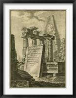 Grecian Tablet II Framed Print