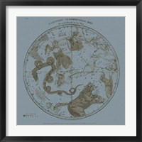 Framed Northern Circumpolar Map