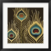 Peacock Trilogy II Framed Print