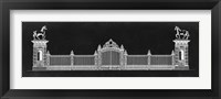 Graphic Palace Gate II Framed Print