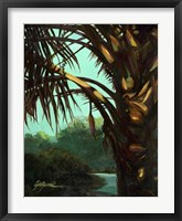Framed Dark Palm