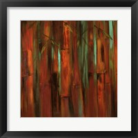 Framed Sunset Bamboo I