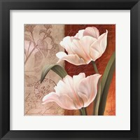 Framed French Tulip Collage I
